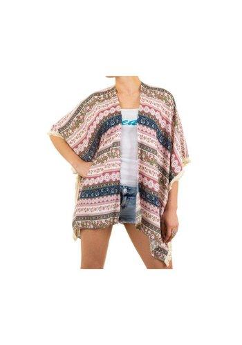 Best Fashion Dames  Tuniek van Best Fashion  one size - Roze