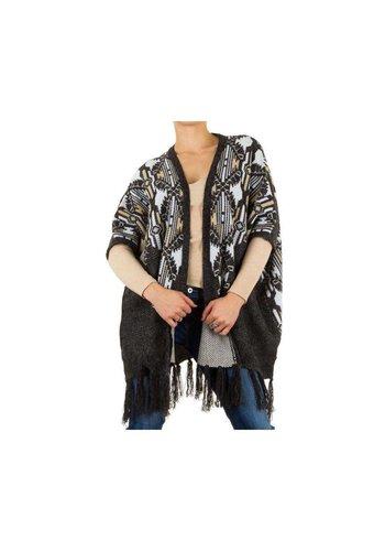 Neckermann Dames Poncho jas one size - Grijs