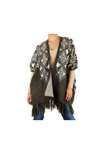 Neckermann Dames Poncho jas one size - Groen