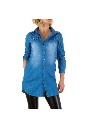 DS FASHION Dames Blouse van Ds Fashion - Blauw