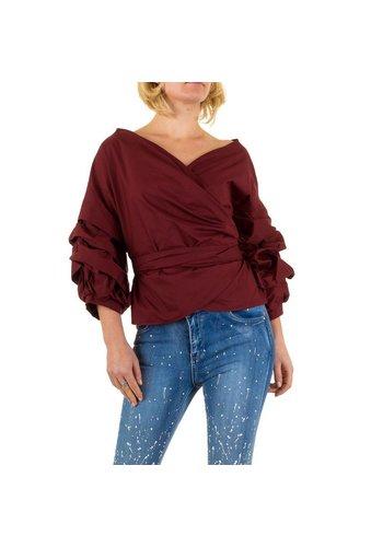 SHK MODE Damen Bluse von Shk Mode - wine
