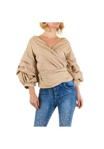 SHK MODE Damen Bluse von Shk Mode - beige