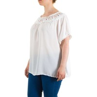 Damen Bluse Gr. one size - white