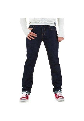 Mario Louis Denim Heren Jeans van Mario Louis Denim -.Donker Blauw