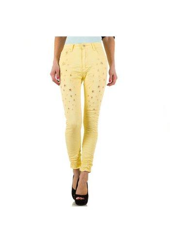 PLACE DU JOUR Damen Jeans von Place Du Jour  - yellow