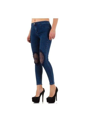 Farfalina Damen Jeans von Farfalina Gr. S - blue