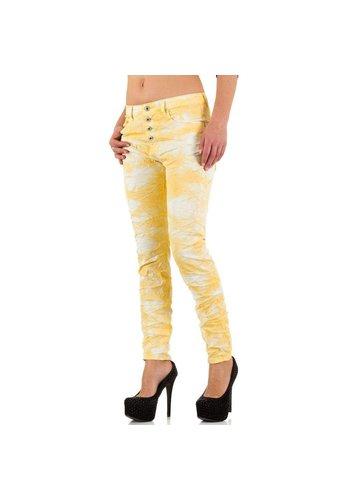 PLACE DU JOUR Damen Jeans von Place Du Jour - jaune