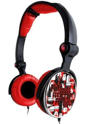 G-Cube G-Play - Red - Stereo folding headphone