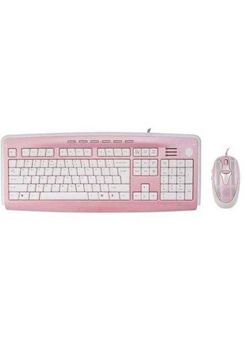G-Cube Mad for Plaid - Pink - X-Slim Multimedia Keyboard & Mouse Desktop Set - US Layout