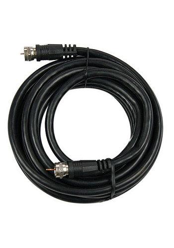 Cablexpert Koaxiales RG6 Antennenkabel mit F-Stecker, 1.5m, schwarz