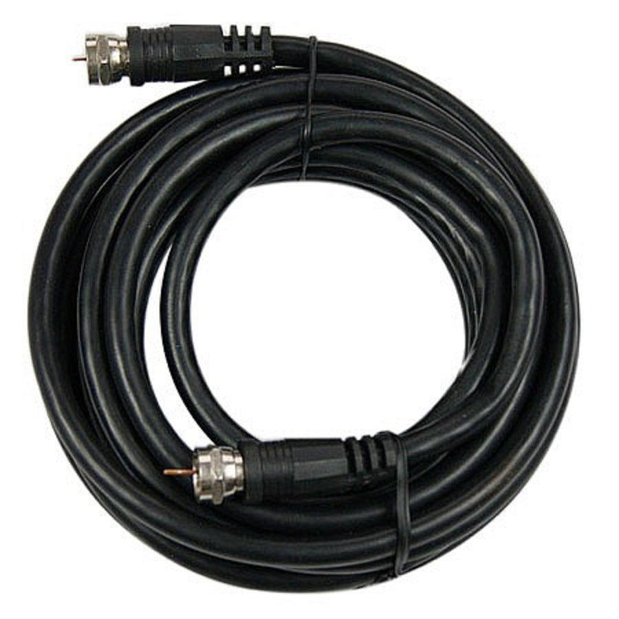 Koaxiales RG6 Antennenkabel mit F-Stecker, 1.5m, schwarz