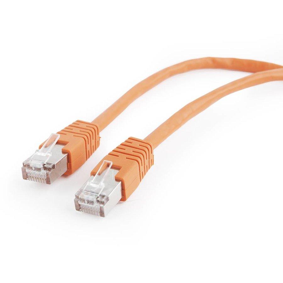 FTP Cat5e Patch cord, orange, 0.5 m