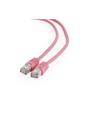 Cablexpert FTP Cat6 Patch cord, pink, 0.5 m