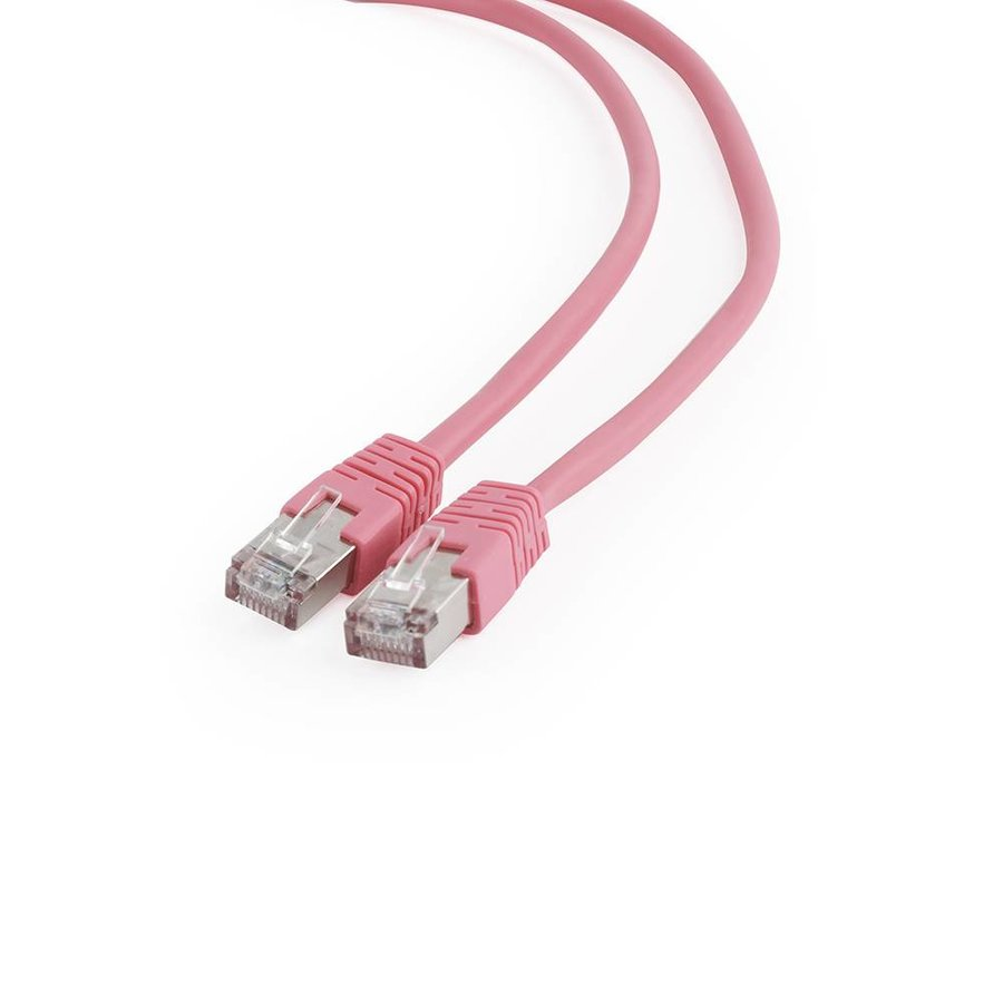 FTP Cat6 Patch cord, pink, 0.5 m