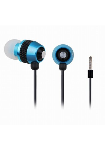 Gembird Stereo in-ears met microfoon, metallic turquoise