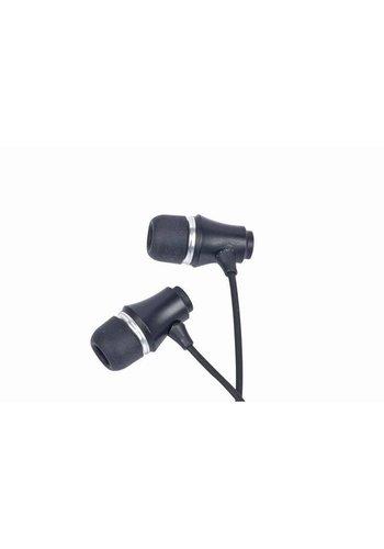 Gembird MP3-EP-01B MP3 Stereo-Kopfhörer, vergoldeter 3,5 mm Klinken-Anschluss, Metall, schwarz