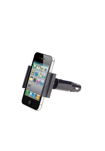 Gembird Autohouder voor smartphones met 1x USB-lader