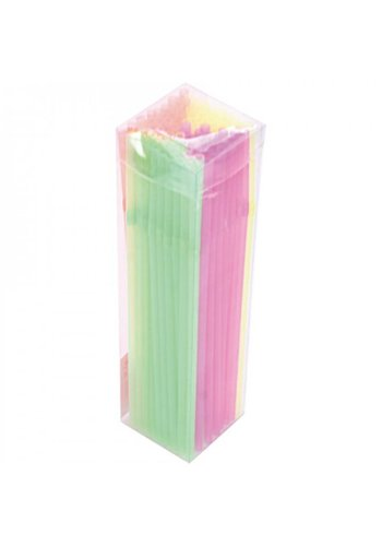 Neckermann Neon rietjes 21 cm 100 stuks