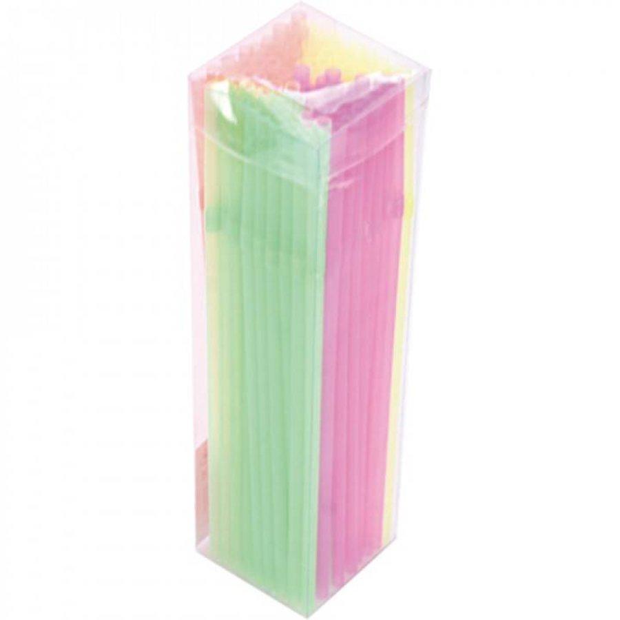 Neon Strohhalme 21 cm 100 Stück