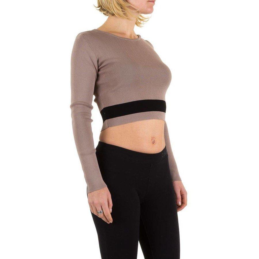 Damen Pullover Gr. one size - beige
