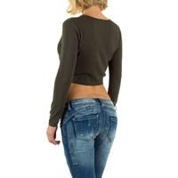 Damen Pullover Gr. one size - khaki