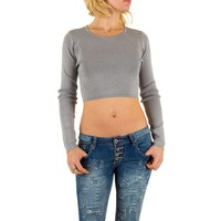 Damen Pullover Gr. one size - grey