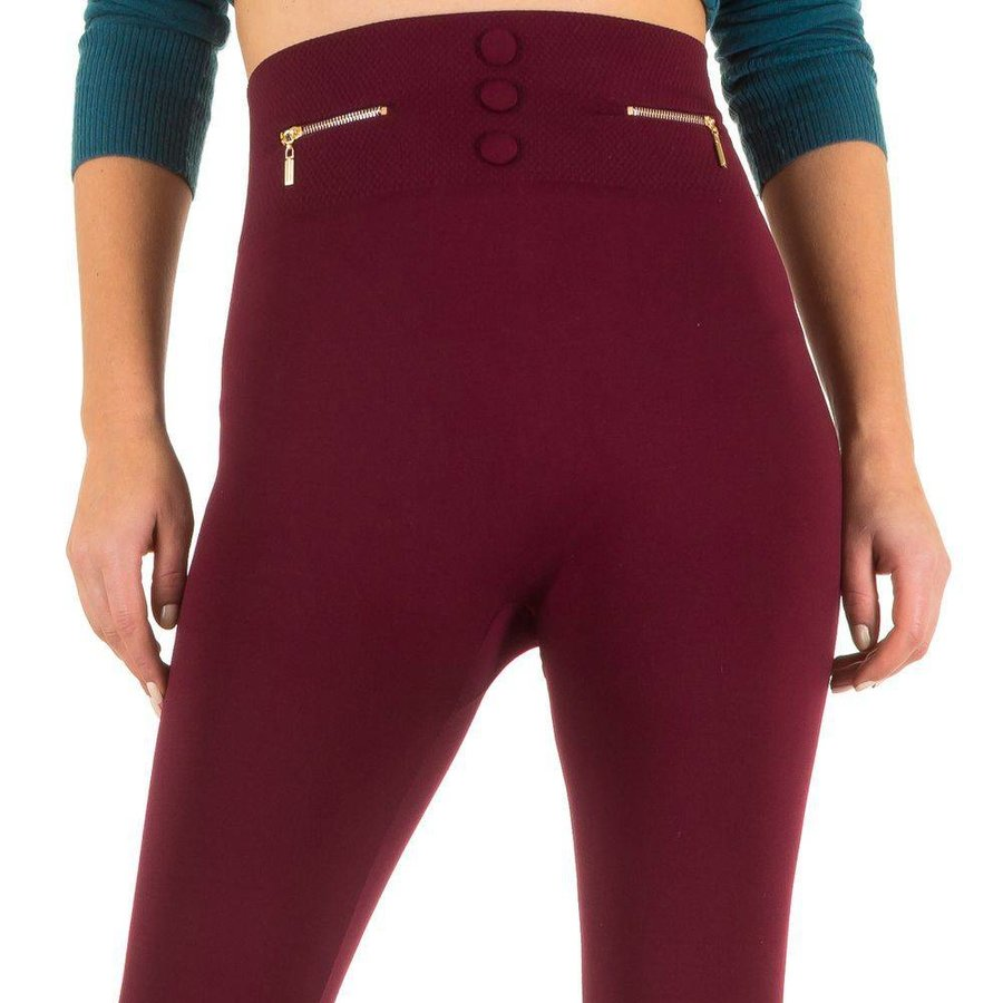 Damen Leggings von Best Fashion Gr. one size - wine