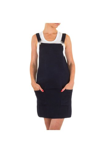 Markenlos Dames Overal Rok van Moewy one size -Donker blauw