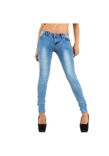 GIRL VIVI Dames Jeans van Girl Vivi - Licht blauw