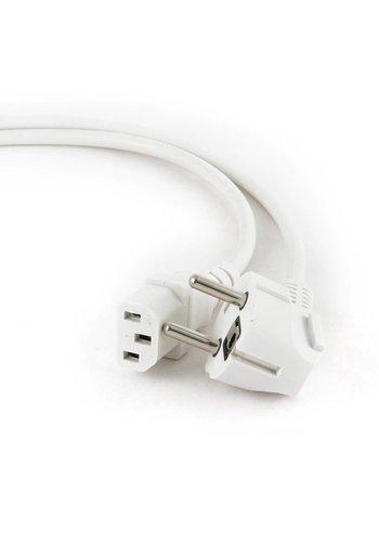 Cablexpert PC-186W-VDE Kaltgerätekabel, VDE-geprüft, weiß