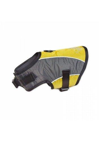 Touchdog harnas met lijn geel medium