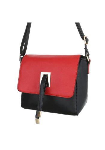 Neckermann Dames Schouder tas Zwart Rood