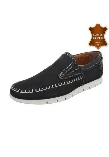 COOLWALK Chaussures sport en cuir pour hommes par COOLWALK - noir