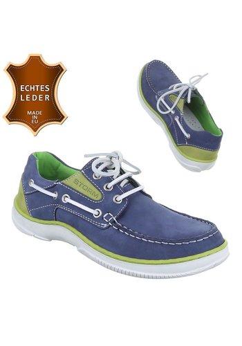 Neckermann Chaussures sport en cuir pour hommes - bleu