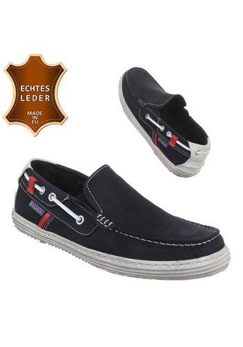 Neckermann Chaussures décontractées en cuir pour hommes - NL.black