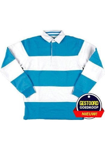 Lemon & Soda Sweater met kraag lange mouw licht-blauw