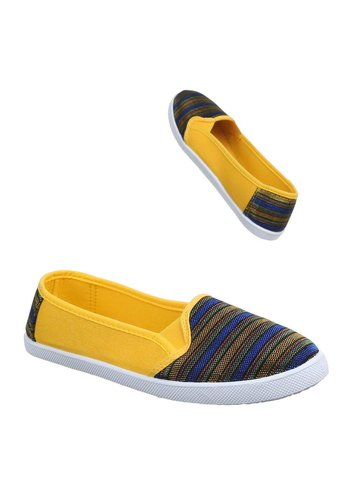 Neckermann Dames Instappers Blauw geel