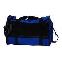 Dierendraagtas - nylon - 47x25x30 cm - blauw
