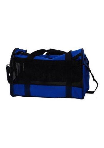MPets Dierendraagtas - nylon - 47x25x30 cm - blauw