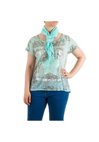 Neckermann Damen Bluse Gr. one size - turkis