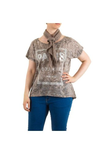 Neckermann Damen Bluse Gr. one size - brown