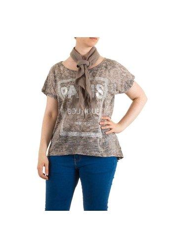 Neckermann Dames Shirt One Size Bruin