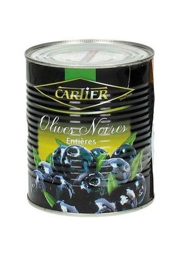 Cartier Zwarte Olijven met pit in blik - 400 gram