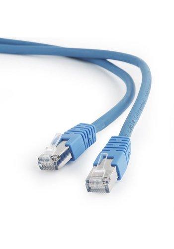 Cablexpert S/FTP Cat6A patchkabel LSZH, blauw 0.5 m