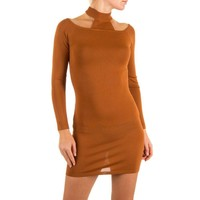 Damen Kleid Gr. one size - camel