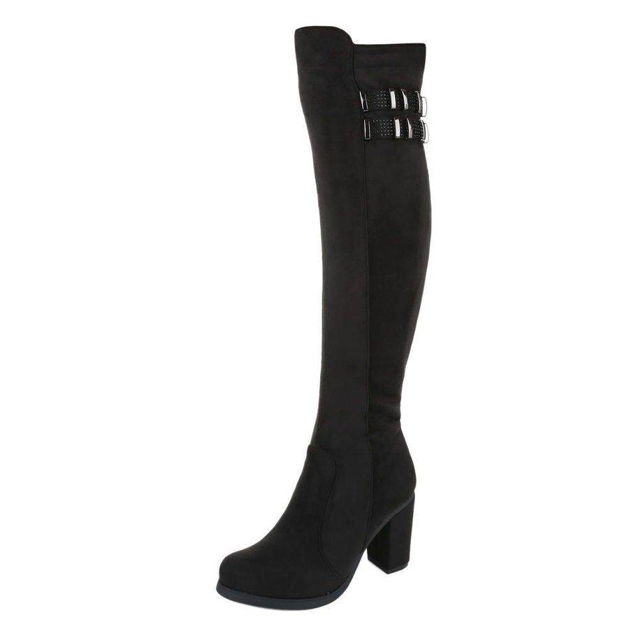 Damen Overknee Stiefel - black