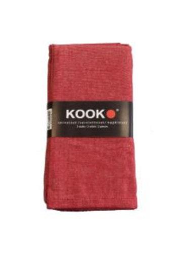 Kook Serviettes damassé 4 pièces 40x40 cm - Copy