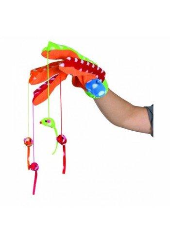 Trixie Cattoy speelhandschoen gekleurd met 4 muizen