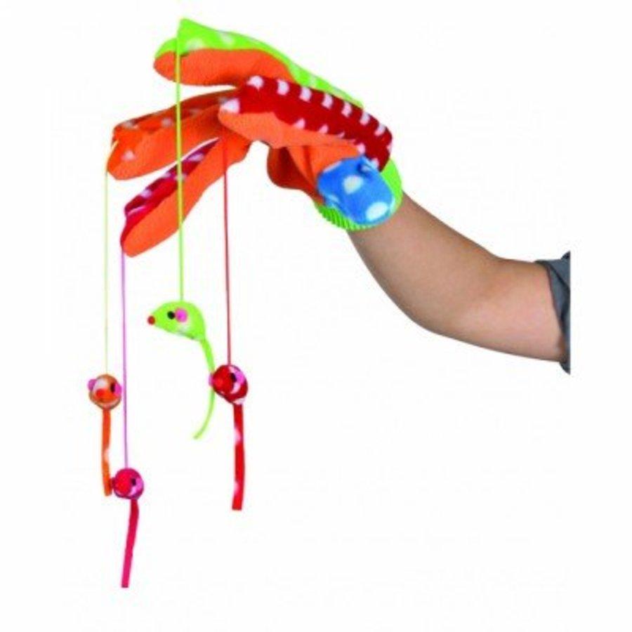 Cattoy speelhandschoen gekleurd met 4 muizen