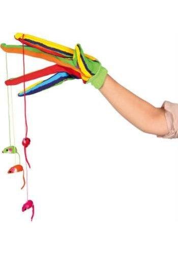 Trixie Cattoy speelhandschoen gekleurd met 4 muizen - Copy